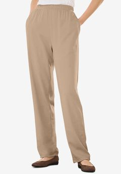 7-Day Knit Straight Leg Pant, NEW KHAKI