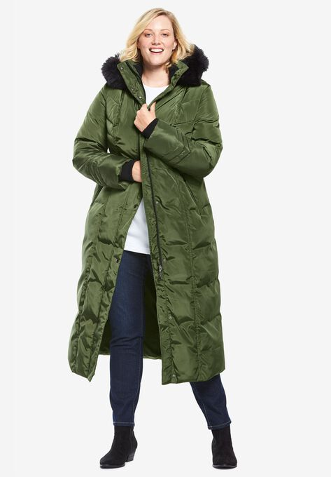 96be858187f Hooded Faux Down Puffer Coat