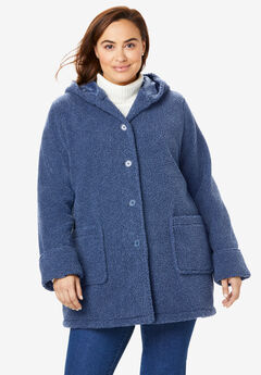 Hooded Berber Fleece Jacket,