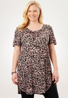 Short Sleeve Maxi Tunic,