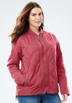 The Laid Back Bomber Jacket, ROSE BLOOM, hi-res