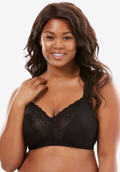 782144b32 Lace-Trim Wireless Bra by Amoureuse®