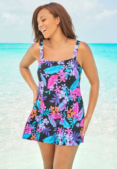 Princess-Seam Swim Dress by Swim 365,