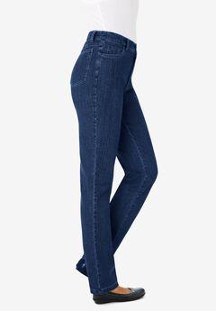 Straight Leg Tummy Tamer Jean, DARK INDIGO