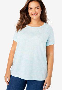 Marled knit T-shirt,