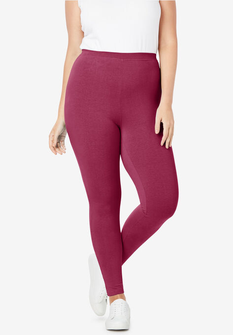 eebfe80e374c9 Stretch Cotton Legging| Plus Size Petite | Woman Within