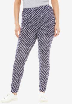 Stretch Cotton Printed Legging, NAVY STAR, hi-res