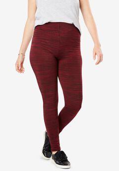 Cozy stretch knit fleece leggings,