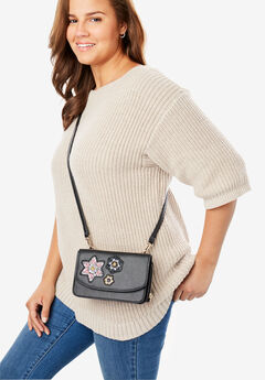 Convertible Crossbody Wallet Bag,