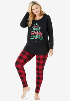 2-Piece PJ Legging Set , RED BUFFALO PLAID