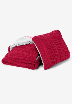 2-Piece Cable Throw & Pillow Set,