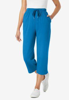 Sport Knit Capri Pant, VIBRANT BLUE