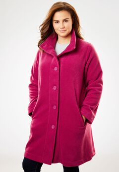 Fleece Swing Funnel-Neck Jacket,