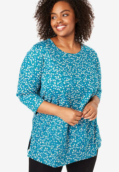 Perfect Printed Three-Quarter Sleeve Tunic,