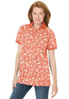 Perfect Printed Polo T-shirt,