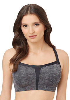 Hi-Impact Sports Bra by Le Mystere, CHARCOAL, hi-res