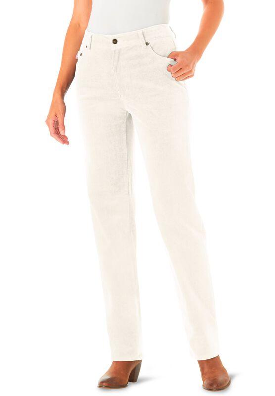 Woman Within Womens Plus Size Petite Stretch Corduroy Bootcut Jean
