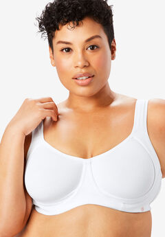 Out Wire Bra by Comfort Choice®, WHITE, hi-res