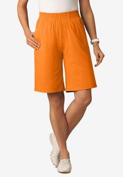 Jersey Knit Short, SWEET TANGERINE