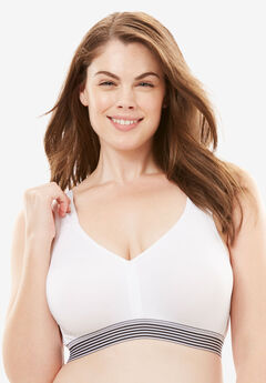 Total Comfort Microfiber Bra by Comfort Choice®, WHITE, hi-res