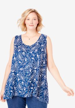 High-Low Button Front Tank,