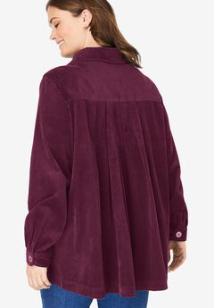 Pleat-Back Corduroy Jacket,