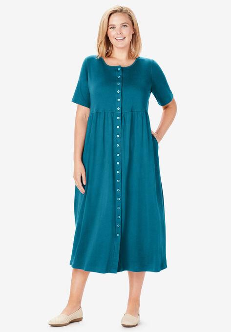 Button-Front Essential Dress