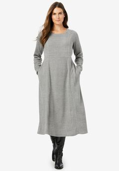 Thermal Knit A-Line Dress,