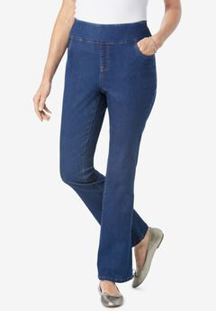 Pull-On Bootcut Jean, MEDIUM STONEWASH