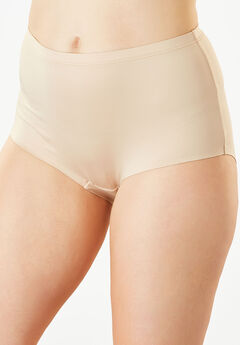 No-Show Full-Cut Brief by Comfort Choice®, NUDE, hi-res