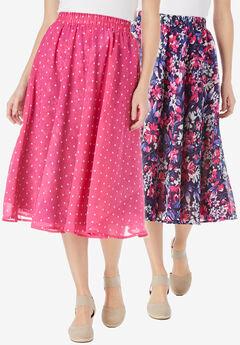 Reversible skirt, NAVY PAINTERLY BLOOM