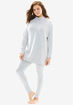Sweatshirt Lounge Set by Dreams & Co.®, HEATHER GREY, hi-res