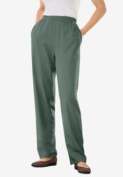 7-Day Knit Straight Leg Pant, PINE