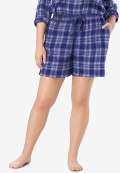 Flannel Pajama Short by Dreams & Co.®,