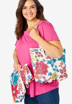 3-Piece Floral Bag Set,