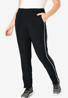 Stretch Woven Side Stripe Pant by FULLBEAUTY SPORT®,