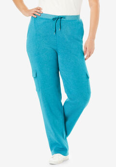 Better Fleece Cargo Sweatpant, HEATHER DEEP TEAL