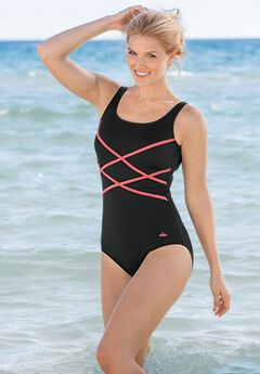 Crisscross Front Maillot by Swim 365,