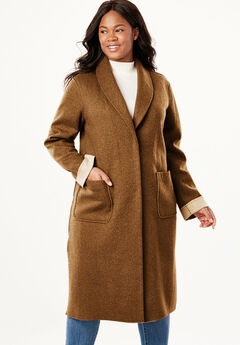 Lightweight Wool Double-Faced Coat, SOFT BROWN NEW KHAKI, hi-res