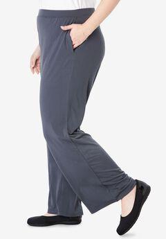Wide Leg Knit Travel Pant,