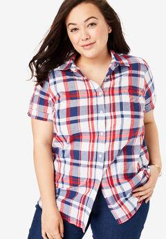 40a5a732dd58b Short Sleeve Button Down Seersucker Shirt