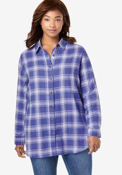 Classic Flannel Shirt, TULIP PURPLE PLAID