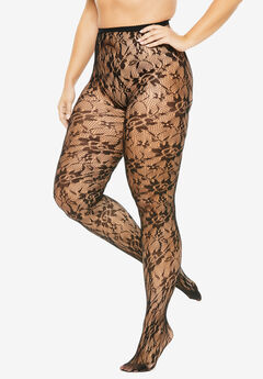 2-Pack Lace Tights,