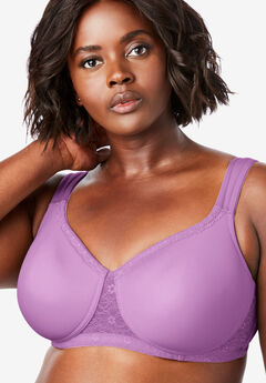 2a0ed31d1dc46 Wireless Lace Trim Microfiber T-Shirt Bra by Comfort Choice®