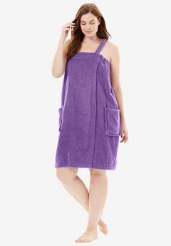 Towel Wrap By Dreams & Co.®, VIOLET BLOOM, hi-res
