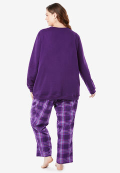 Fleece Sweatshirt   Pant Pajama Set by Dreams   Co.® 2c048bbf1
