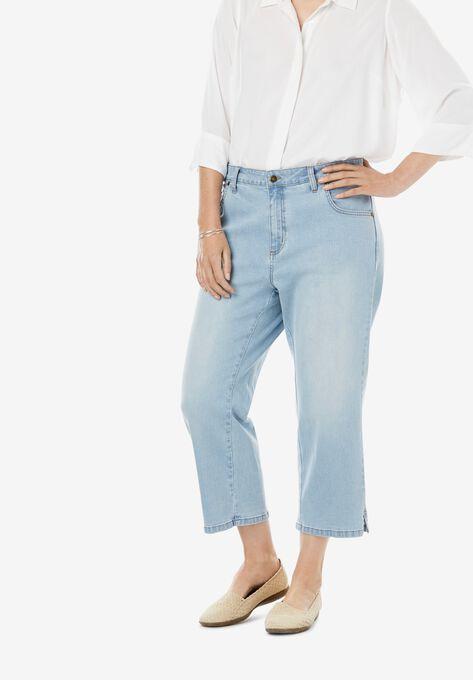 Capri Stretch Jean| Plus Size Jean Capris | Woman Within