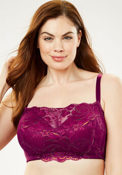 Lace Wireless Cami Bra by Comfort Choice®, POMEGRANATE BRONZE