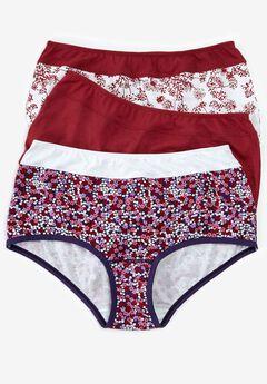 3-pack tagfree brief panty by Comfort Choice®, , hi-res