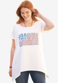 Graphic Americana Raglan Tunic,